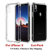 10x Wholesale Lot Hybrid TPU Shockproof Clear Case For iPhone 6/6s/7/8 Plus 10/X