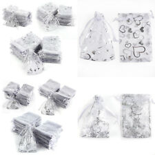 100x Multiple Patterns Sizes Organza Wedding Jewellery Gift Pouch Favour Bags