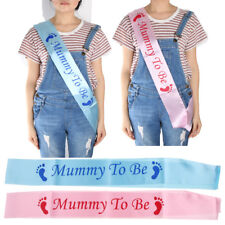 New Mom Satin Sash Blue Pink Mummy to be Sash for Baby Shower Party Decoration