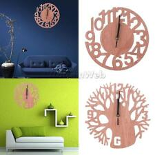 3D Wooden Tree Wall Clock DIY Modern Watches Office Home Living Room Decorations