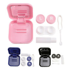 Mini Contact Lens Storage Case Box with Tweezer Container Travel Kit