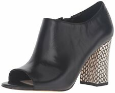 Nine West Womens BRAYAH Leather Open Toe Ankle Fashion Boots