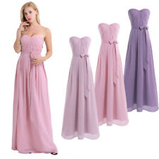 Lady Women Evening Formal Party Cocktail Bridesmaid Prom Gown Pleated Long Dress