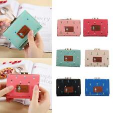 Women Lady Mini PU Leather Wallet Purse Clutch Short Small Coin Bag Card Holder