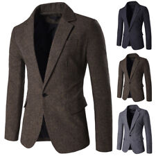 New Fashion Mens Slim Fit Blazer One Button Suit Casual Jackets Coat Blouse