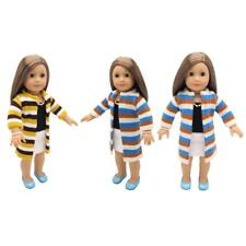 Fashion Clothes Striped Woolen Sweater Coat for 18inch American Girl Dolls