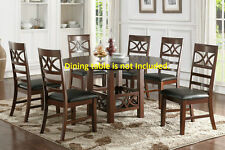 New Stylished Framed back Design Cushion Seat Dining Chairs Faux Leather Chair