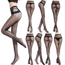 Women's Fashion Black Lace Fishnet Hollow Patterned Pantyhose Tights Stocking