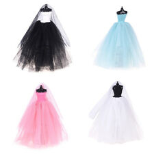 Fashion Royalty Princess Dress/Clothes/Gown+veil For Barbie Doll Accessories LE