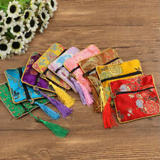 Floral Fabric Bag Packaging Bag Jewelry Coin Purse Bag 1 Pcs Silk Brocade Tassel