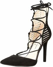 Jessica Simpson Womens Cynessa Suede Pointed Toe Ankle Wrap Classic Pumps