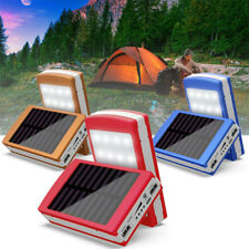 Solar LED Portable Dual USB Power Bank 5x18650 External Battery Charger Box Case