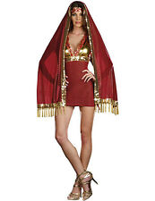NWT SEXY INDIAN BOLLYWOOD Red Gold Fantasy Halloween Cosplay Costume