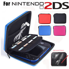EVA Hard Protective Carry Case Bag Pouch +2PCS Screen Protector for Nintendo 2DS