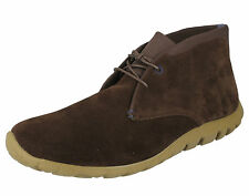 MENS ROCKPORT LEATHER/SUEDE CHUKKA ANKLE BOOTS IN CHOCOLATE COLOUR - K72999