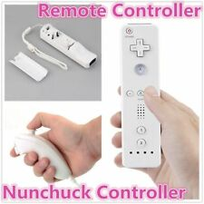 Remote And Nunchuck Controller Set For Nintendo Wii Game + Strap For Remote #MM