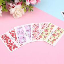 24 sheet Water Decals Nail Art Transfer Stickers Flower Manicure Decoration UL