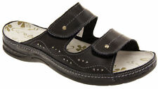 Ladies COOLERS Leather Mule Sandals Womens Slip On Beach Shoes Sz Size 4 5 6 7 8