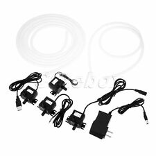 DC Water Pump 350L/H Lift 3M Brushless Submersible Pump Rubber Hose for Fountain