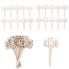 Vintage Wood Antler Table Numbers on Stick Place Card Wedding Party Supplies