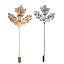 Electroplate Plated Stick Pin Maple Leaf Boutonniere Collar Lapel Stick Pin