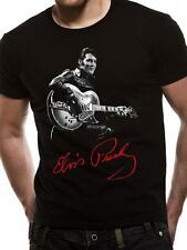 OFFICIAL LICENSED - ELVIS PRESLEY - SIGNATURE T SHIRT ROCK N ROLL KING
