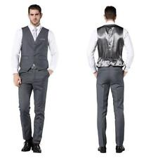 2018 NEW Slim Fit Men's Suit 3 Pc Gray Tuxedo Jacket Pant 38 40 42 44 46+ Custom