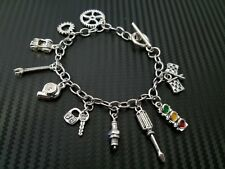 Car Part Automotive Charm Bracelet Mechanic Racing Drifting Turbo Wrench
