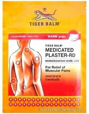 Tiger Balm Warm Plaster-RD Medicated Muscle Pain Relief Back Aches 7cm x10cm Pat