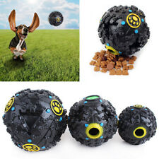 Pet Dog Cat Play Squeaky Squeaker Quack Sound Chew Treat Holder Ball Toy S M L