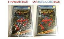 (50) Graded CGC CBCS SLABBED RESEALABLE CRYSTAL CLEAR SPARKLING MYLAR COMIC BAGS