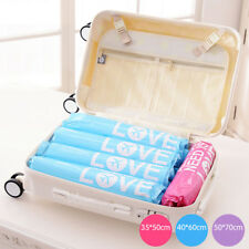 2 PCS Vacuum Roll-Up Storage Bags Saving Space Compression Bag Trave Storage Bag