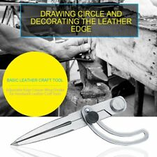 DIY Leather Craft Making Rotating Tool Adjustable Wing Divider Edge Creaser LN