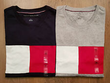Tommy Hilfiger Mens Crew Neck T-Shirt Short Sleeve Graphic Tee Vintage Flag Logo