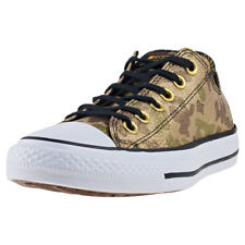 Converse Chuck Taylor All Star Ox Womens Trainers Khaki Gold New Shoes