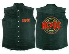 OFFICIAL LICENSED - AC/DC - HIGH VOLTAGE ROCK N ROLL SLEEVELESS WORK SHIRT ANGUS