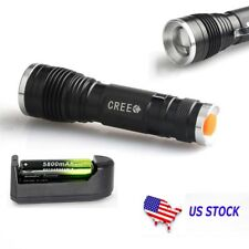 20000LM  XM-L T6 LED 18650 Zoomable Flashlight Torch Lamp Udjustable Focus USA