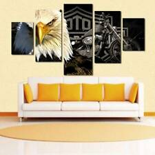 Unframed Modern Oil Painting Eagle Motorcycle Huge Wall Decor Art On Canvas