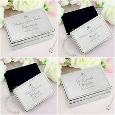 Personalised Engraved Decorative Wedding Jewellery Box Thank You Gift Favours