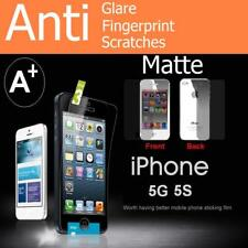 Front Screen Protector Matte& Glossy Screen Cover Film For iPhone 5 5S 5C 5SE