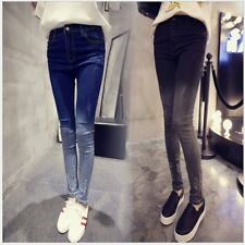 Women High Waist Slim Fit Ripped Hole Jeans Stretchy Pencil Pants Trousers YK