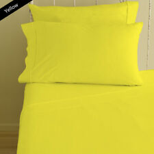Egyptian Cotton 1000 Tc Sheet Set Doona Set Fitted Yellow Solid AU Queen