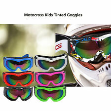 Kids Youth Tinted Motocross motorbike goggles UV protection BMX dirt Bikes ATV