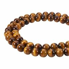 5 Strds Natural Tiger Eye Beads Round Loose Gemstone Beads Beading Craft 4~8mm