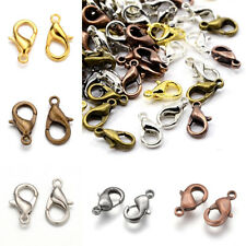 200pcs Brass Lobster Claw Clasps Nickel Free Trigger Clasp Closure Findings 12mm