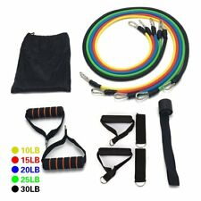 11P Resistance Band Set Yoga Pilates Abs Exercise Fitness Tube Workout Bands SY