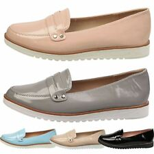 WOMENS SHOES LADIES LOAFERS BROGUES PUMPS FLATS CREEPERS FLATFORM WEDGE SIZE NEW