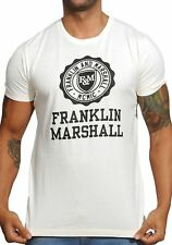 Franklin and Marshall Large Crest T-Shirt - Vanilla TSMF352