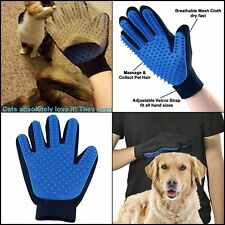Pet Hair Remover Glove Grooming Gloves Mitt Brush Massage Perfect for Dogs &Cats