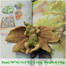 Everyday Collection Leaf Fairy Angel Figurine Baby Outdoor Statue/Miniature